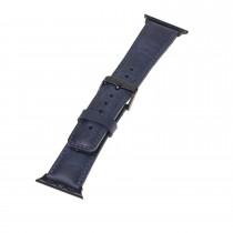 "Fredo Apple Leather Bracelet ""Classic"" (Series 1-6) (Navy Blue)"