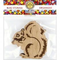 Lonjew Squirrel Shaped Wooden Lid Bead Organizer LLZB-100
