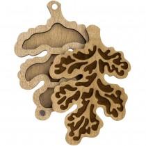 Lonjew Leaf Shaped Wooden Lid Bead Organizer LLZB-102