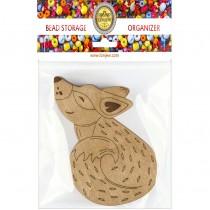 Lonjew Puppy Fox Shaped Wooden Lid Bead Organizer LLZB-104