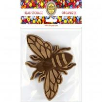 Lonjew Bee Shaped Wooden Lid Bead Organizer LLZB-106