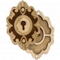 Keyhole Shaped Wooden Lid Bead Organizer LLZB-108