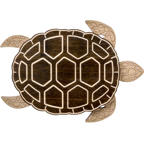 Lonjew Turtle Shaped Bead Organizer with Wooden Lid
