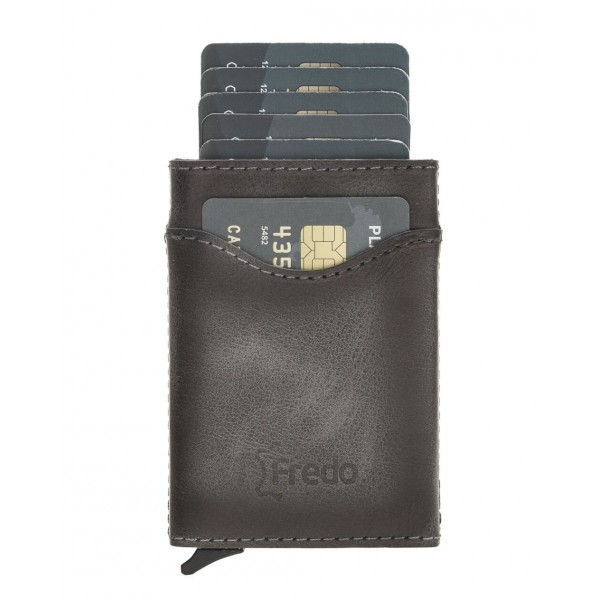 Fredo Card Case - Up to 10 Cards Verti- Stone Gray