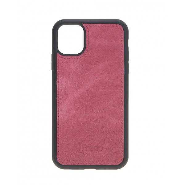 "Fredo iPhone 11 Pro Max 6.5 ""Leather Case"" Secret Wallet ""(Pink)"
