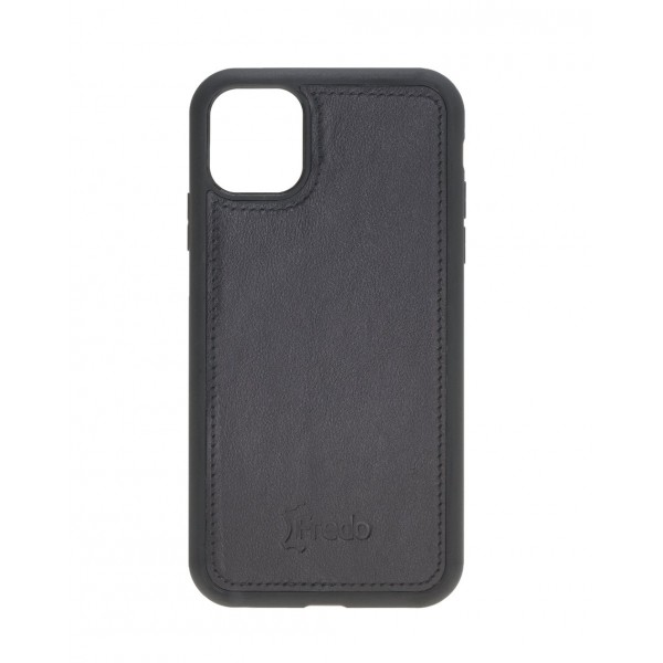 "Fredo iPhone 11 6.1 ""Leather Case"" Secret Wallet ""(Black)"