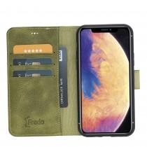 "Fredo iPhone 11 Pro Max 6.5 ""Leather Case"" Secret Wallet ""(Gray Crocodile)"