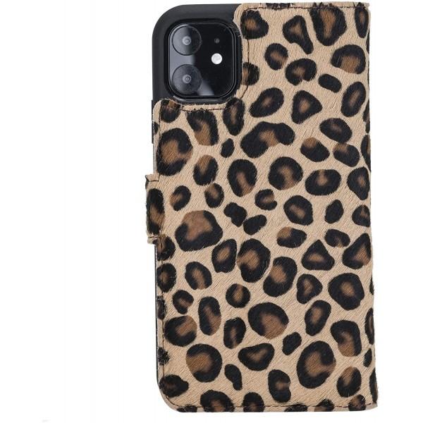 """Fredo iPhone 11 6.1 """"Leather Case"""" Secret Waller """"(Leopard)"""