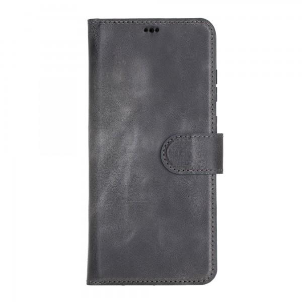 "Fredo Galaxy S20 + | S20 + 5G Leather Case ""Secret Wallet"" (Stone Gray)"