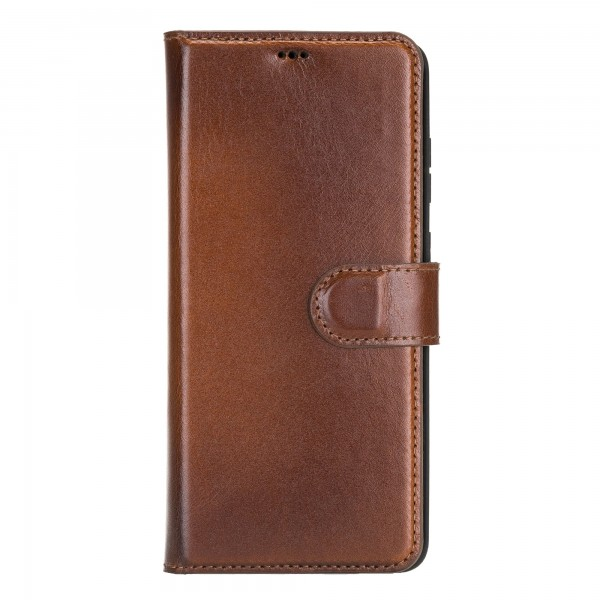 "Fredo Galaxy S20 + | S20 + 5G Leather Case ""Secret Wallet"" (Cognac Brown)"