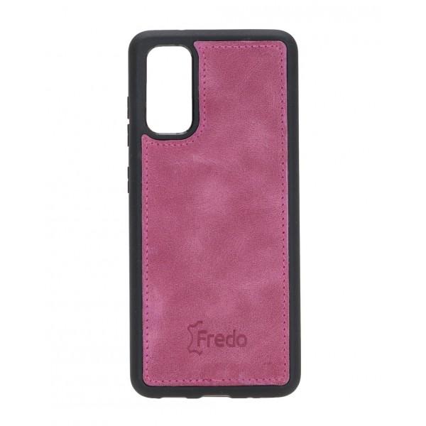 "Fredo Galaxy S20 | S20 5G Leather Case ""Reflex"" (Nude Pink)"