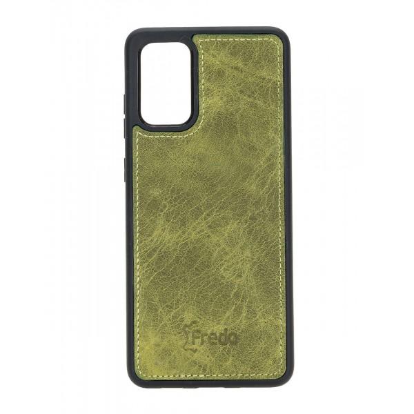 "Fredo Galaxy S20 + | S20 + 5G Leather Case ""Reflex"" (Green)"