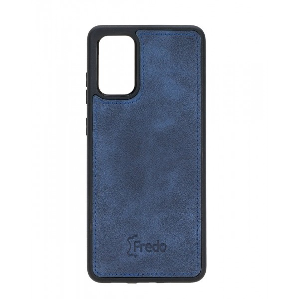 "Fredo Galaxy S20 + | S20 + 5G Leather Case ""Reflex"" (Navy Blue)"