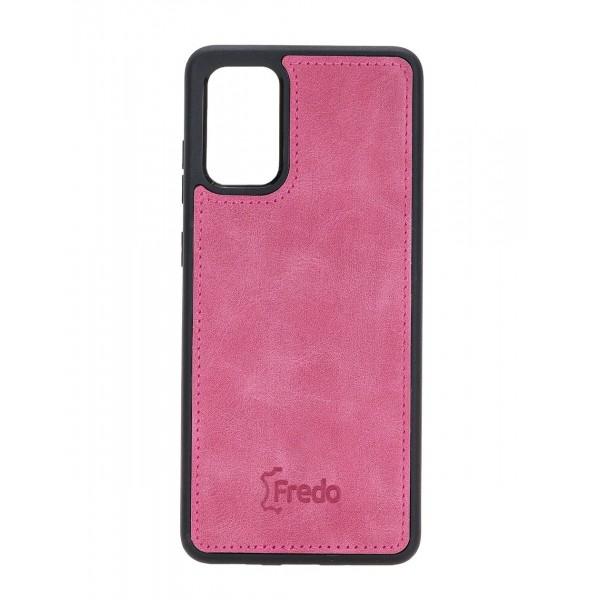 "Fredo Galaxy S20 + | S20 + 5G Leather Case ""Reflex"" (Nude Pink)"