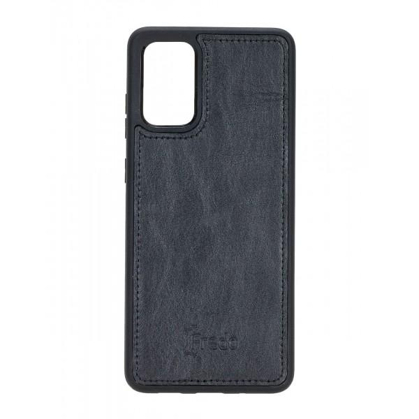 "Fredo Galaxy S20 + | S20 + 5G Leather Case ""Reflex"" (Black)"
