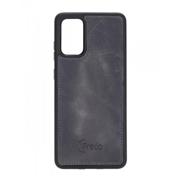 "Fredo Galaxy S20 + | S20 + 5G Leather Case ""Reflex"" (Stone Gray)"