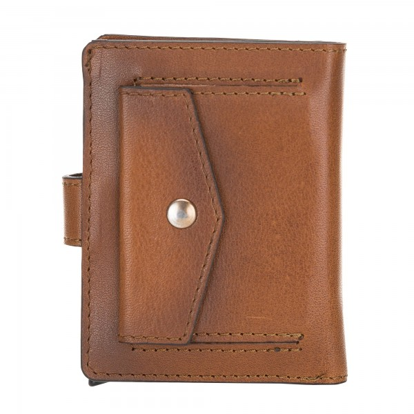 Fredo Card Case -Up To 15 Cards Wallet - Cognac Brown