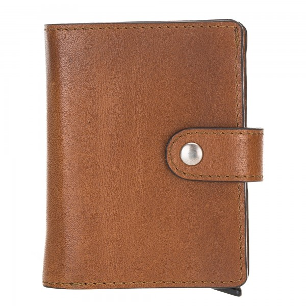 Fredo Card Case Up To 15 Cards Wallet Cognac Brown