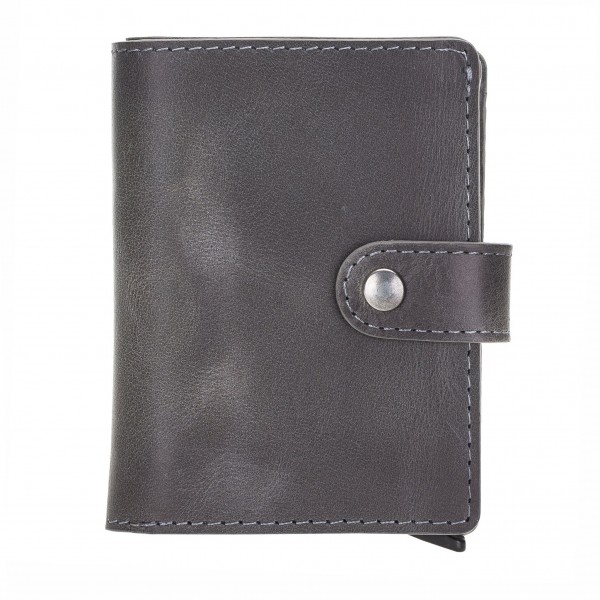 Fredo Card Case - Up To 15 Cards Wallet - Stone Gray