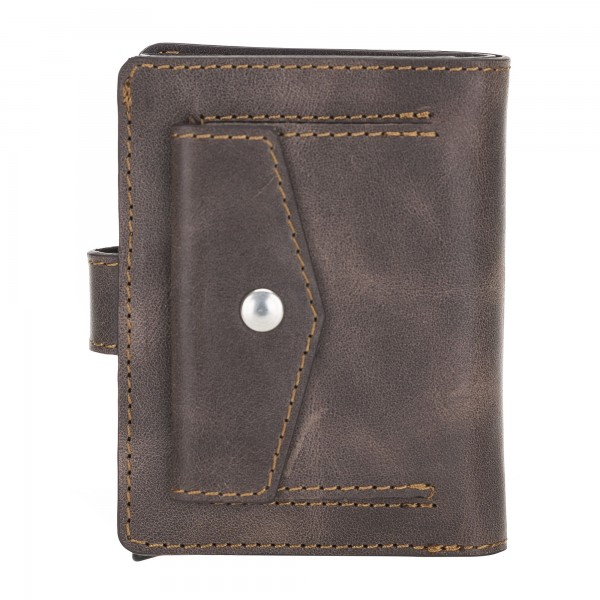 Fredo Card Case - Up To 15 Cards Wallet - Vintage Brown
