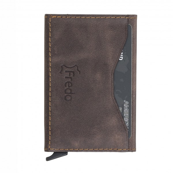 Fredo Card Case - Up To 10 Cards - Vintage Brown