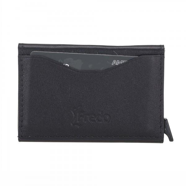Fredo Card Case - Up To 8 Cards Zipper - Black