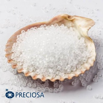 Preciosa Seed Beads 33139/00050/10 White, 100 Gram