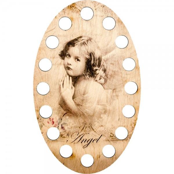 Lonjew Angel Painting Illustration, Wooden Thread Brace LLZ-005(М-2)