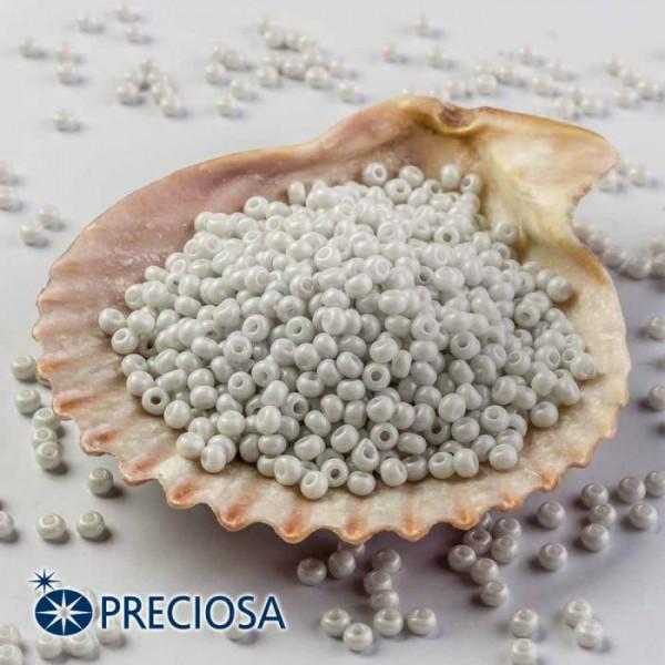Preciosa Jewelry Making Round Seed Beads Size 10/0 100 Gram 3.5 Oz (Grey)