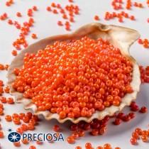 Preciosa Jewelry Making Round Seed Beads Size 10/0 100 Gram 3.5 Oz (Orange)
