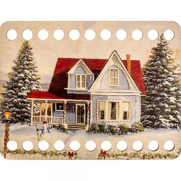 Lonjew Winter and Snow Themed Wood Dyeing, Embroidery Thread Separator LLZ-003(М-6)