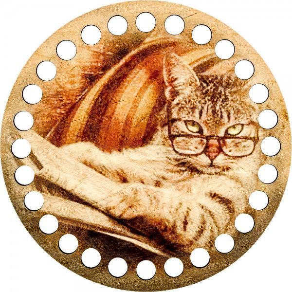Lonjew Cat Designed Wooden Thread Organizer Floss Craft Storage Yarn Organizer LLZ-002(М-1)