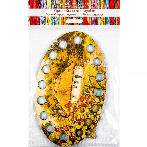 Lonjew House Illustration Themed Wood Embroidery Separator in The Forest LLZ-005(М-1)
