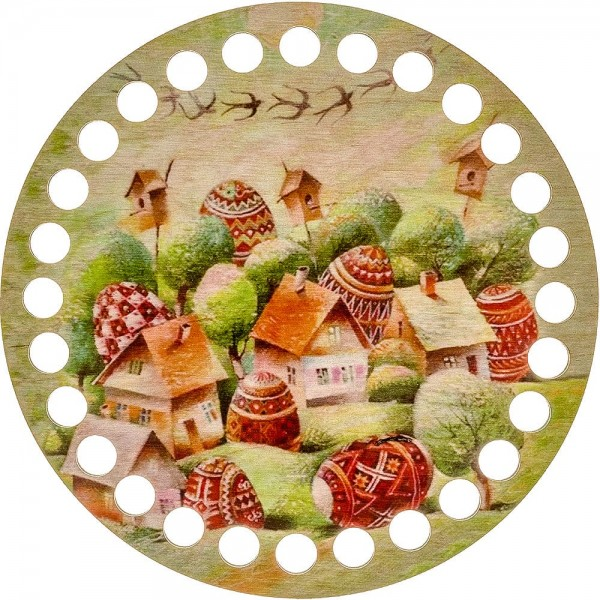 Lonjew Hidden Village Themed Art Painted Thread Embroidery Separator, Yarn Organizer LLZ-002(М-10)