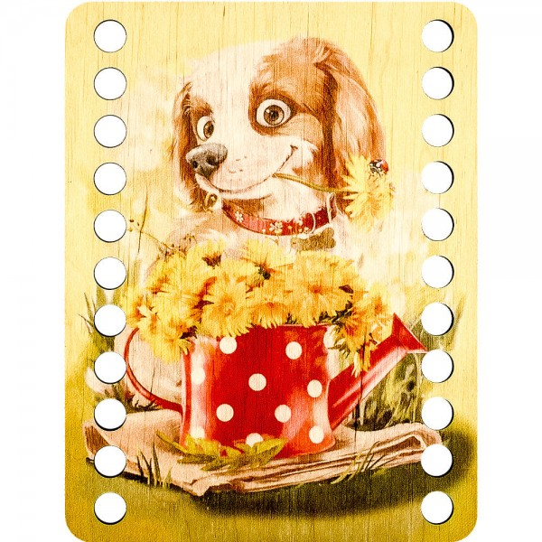 Lonjew Cute Dog Themed Cross Stitch Thread Organizer with Art Decor LLZ-003(М-2)