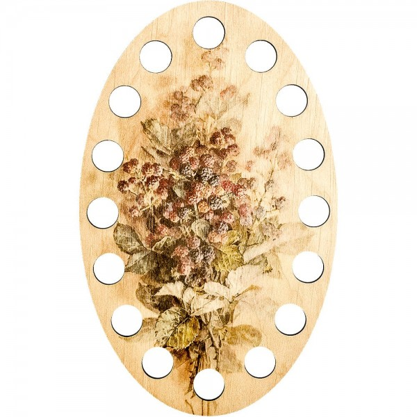 Lonjew Oil Painting Leaf Theme Illustration, Wooden Thread Support LLZ-005(М-3)