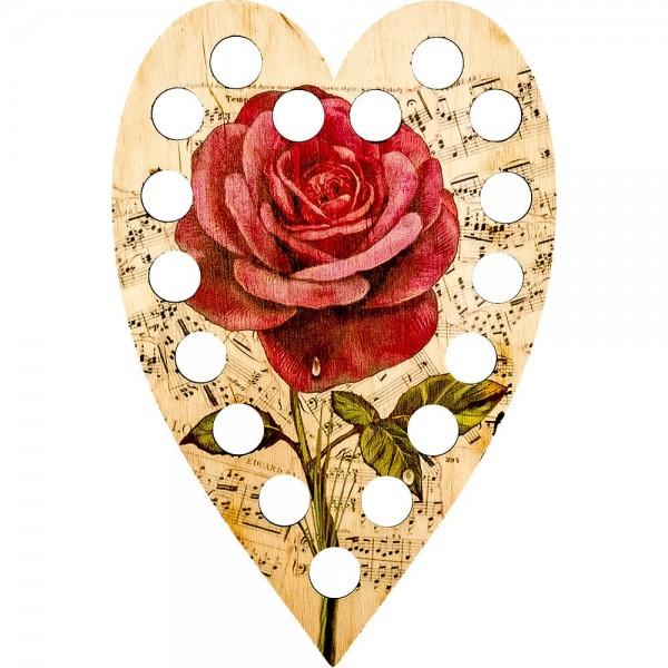 Lonjew Red Rose Patterned Heart Shaped Drawstring Organizer LLZ-008(М-2)