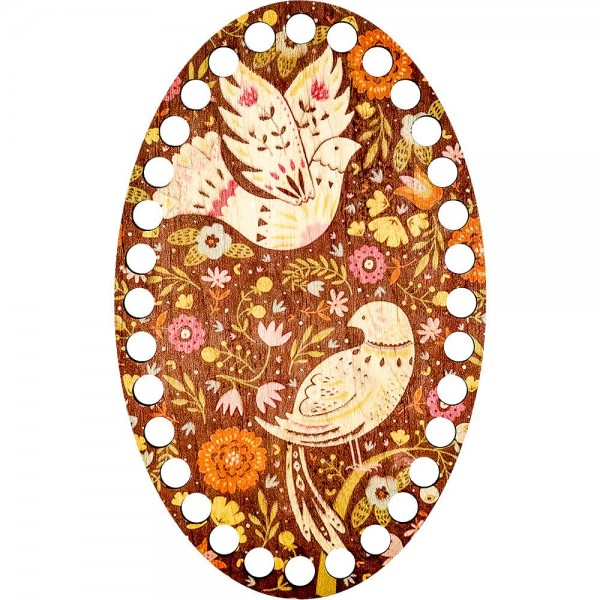 Lonjew Female Bird and Male Bird Nest Illustration Themed Wooden Embroidery Separator LLZ-004(М-4)