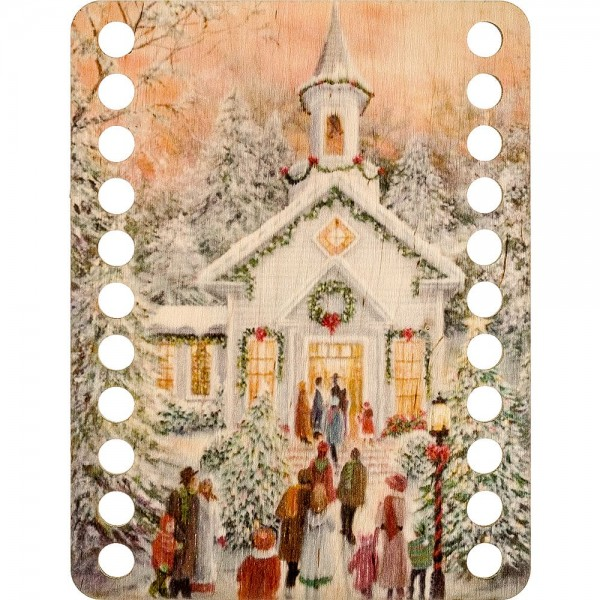Lonjew New Year Themed Wood Art Dyed Thread Embroidery Separator LLZ-003(М-7)