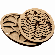 Lonjew Leaf Pattern Oval Shaped Wooden Cover Bead Organizer LLZB-057