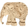 Lonjew Elephant Shaped Wooden Lid Bead Organizer LLZB-097