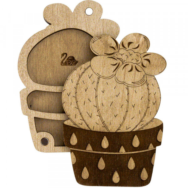 Lonjew Cactus Shaped Wooden Lid Bead Organizer LLZB-098