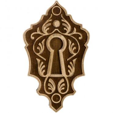 Lock Shaped Wooden Lid Bead Organizer LLZB-107
