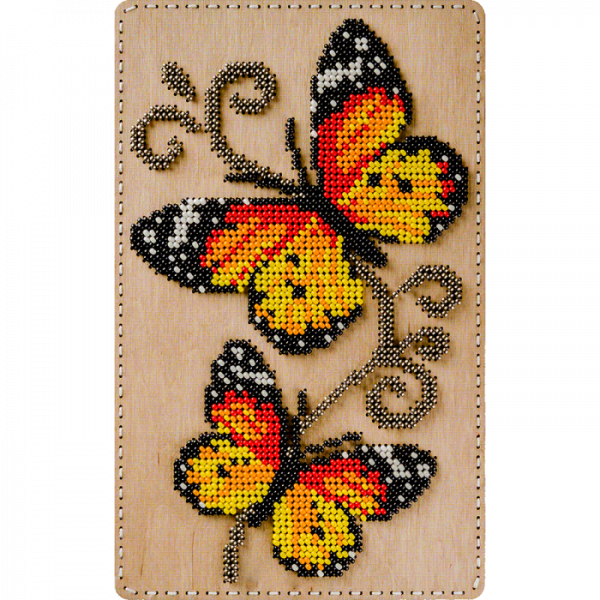 Lonjew Butterfly Pattern Covered Organizer for Beaded Embroidery LLZB-071