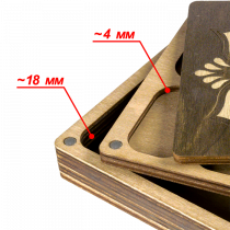 Lonjew Flower Pattern Deep Rectangular Two Layer Needle Holder Bead Organizer With Dark Wood Cover LLZB-073