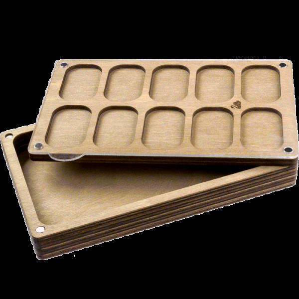 Lonjew Rectangular Eleven Cells Deep Bead Organizer with Transparent Cover LLZB-083