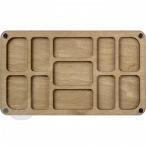 Lonjew Rectangular Ten-Cell Deep Bead Organizer with Transparent Cover LLZB-084