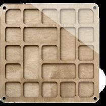 Lonjew Square Wooden Bead Organizer LLZB-090