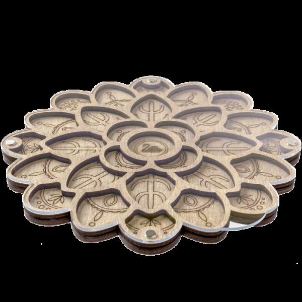Lonjew Flower Bead Storage Organizer with Magnet Lid Mesopotamia LLZB-092