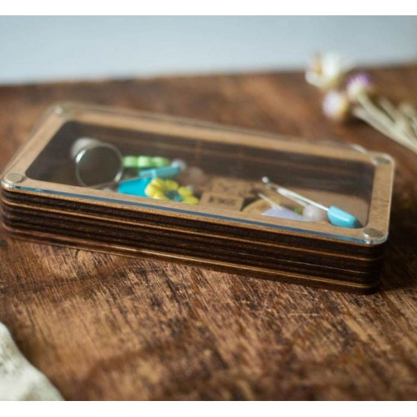 Lonjew Single Compartment Transparent Covered Craft Box LLZB(N)-009
